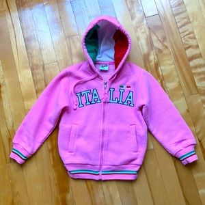 (3 for $20) 4T-5T Pink Italian Hoodie for